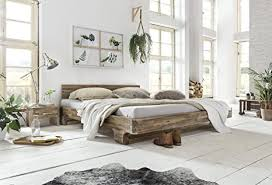 woodkings holzbett 180x200 mayfield holz rustikal schlafzimmer möbel massiv design doppelbett ehebett balkenbett echtholzmöbel akazie rustic