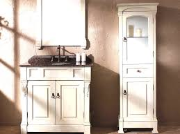 Bathroom Linen Tower With Hamper by White Linen Cabinet With Hamper Bathroom Vanity And Corner Linen