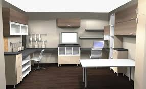 ikea home office overview with wall cabinet