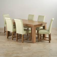 Oak Dining Tables Contemporary Chunky 6ft Solid Oak Dining Set