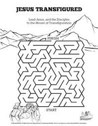 Matthew 17 The Transfiguration Bible Mazes Can Your Kids Lead Jesus Peter James