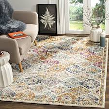 Safavieh Madison Collection MAD611B Cream And Multicolored Bohemian Chic Distressed Area Rug 67quot