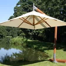 Large Fim Cantilever Patio Umbrella by Bambrella Side Wind 10 U0027 X 13 U0027 Rectangular Bamboo Cantilever Ecru