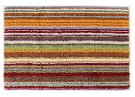 Missoni Home Jazel 159 Orange & Green Striped Bath Rug
