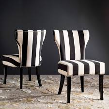 Shop Haver Black And White Striped Dining Chairs (Set Of 2) - Free ... Edith Fabric Ding Chairs Temple Webster Sole Designs The Rexford Collection Contemporary Style Miller Grey Fabric Ding Chair With Black Metal Legs Noble House Phinnaeus Farmhouse Beige Loving Tango And James White Prints Home And Such In Six Rosewood Dnish Chirs In Blckwhite Striped Red Outdoor Amazoncom Christopher Knight Home 234897 Crown Top Dark Grey Raffles High End Brown Pack Of Two Modish Eiffel Inspired Light Chair Black Metal Legs Set 4 Upholstered Button Modway Marquis Faux Leather Products Reasons You Should Have The Room Chairs