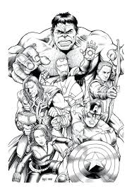 Marvel Avengers Coloring Book Free Page Adult Hulk Pdf Colouring