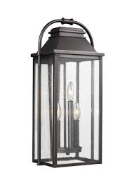 ol13201pbs 3 light outdoor wall lantern painted brushed steel