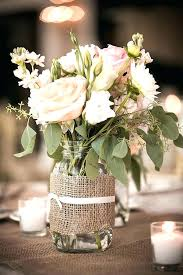 Mason Jars Table Decor Burlap Decorations For Wedding Centerpieces Baby