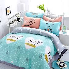 Turquoise White Black And Silver Gray Monogrammed Christmas Tree Polka Dot Heart Print Kids 100 Cotton Twin Full Size Bedding Sets