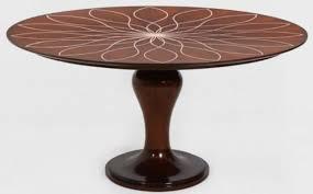 casa padrino luxus esstisch braun weiß ø 150 x h 78 cm runder massivholz küchentisch esszimmertisch luxus esszimmer möbel
