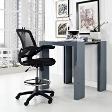 Modway Veer Drafting Stool In Black