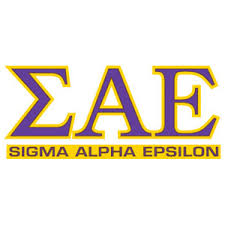 Greek Store Sigma Alpha Epsilon Letters Over Name Decal Greek
