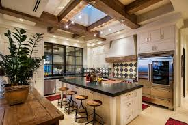 100 Exposed Joists Kitchen Features A Custom Ceiling With Exposed Joists And A