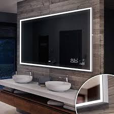 beleuchtet bad licht spiegel l33 artforma rund badspiegel