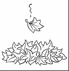 Remarkable Fall Leaves Printable Coloring Pages With For Preschoolers And