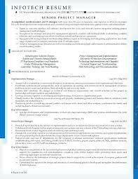 Resume Sample For Project Manager In Software And Senior A It Samples Developer Produce Stunning