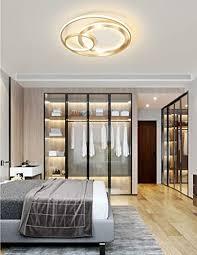 minimalistisch deckenleuchte led schlafzimmer gold