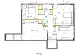 Floor Plans Walkout Basement Inspiration by Basement Floor Plan Drawing Ravishing Home Tips Style At Basement