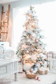 75 Slim Flocked Christmas Tree by Craftberry Bush Christmas Home Tour Part 2 Http Www