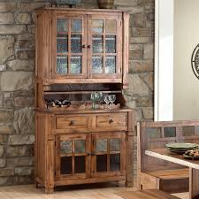 Oak China Cabinets Hutches Sunny Designs Rustic Buffet Hutch Dining Room Ideas