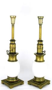 Vintage Stiffel Lamps Value by Antique Brass Table Lamps With Intricately Carved Vintage A La