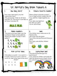 Halloween Brain Teasers Worksheets by Math Brain Teasers Worksheet U0026 Printables Brain Teasers For Kids