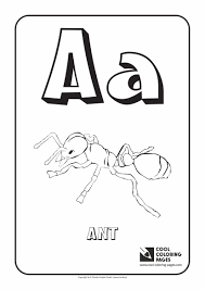 Coloring Pages Alphabet Letters Letter A Cool
