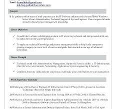 Desktop Administrator Download Support Engineer Resume Samples And Server Job Description