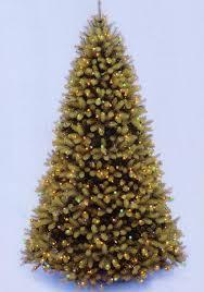 12 Downswept Douglas Fir Pre Lit PE Artificial Christmas Tree