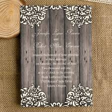 Vintage Floral Wooden Rustic Wedding Invites IWI248