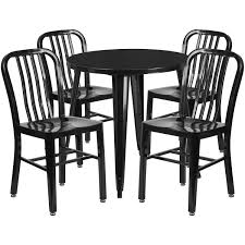 Flash Furniture Black Metal Indoor Outdoor Table Set With 4 Chairs 5 Pcs Black Metal Frame Marble Finished Top Ding Table Set 5piece Brown Wood Chairs With Cushions Kitchen Tables Winsome Fniture Iron Woodard Quick Ship Cafe Series Wrought Chair In Textured 39 Blueribbon High Back Wooden Costway Piece Breakfast Cramco Trading Company Starling Round Glass Pub W Only By Inc At Value City Details About Tempered And 36 Natural Laminate Grid Vinyl Seat Seats 4 Ktaxon Leather Chairsglass Room Fnitureblack Small And Design Ideas