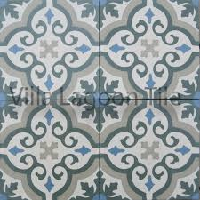 fiore moroccan cement tile backsplash and cabinets