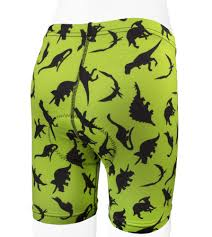din o mite kid u0027s dinosaur padded bike shorts high visibility