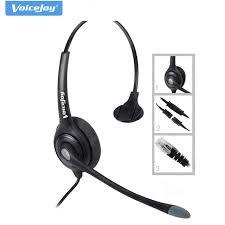 VoiceJoy call center headset with RJ9 plug QD Quick Disconnect