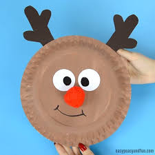 Reindeer Paper Plate Craft With A Cute Red Nose