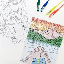 It Is Still A Tad Bit Too Chilly For Camping So We Are Going On Coloring Adventure With Our Take Hike Adult Book By
