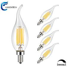 why we it lansontech dimmable filament candle led is glass