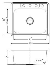 Drop In Bathroom Sink Sizes by Houzer Stainless Steel Drop In Kitchen Sinks