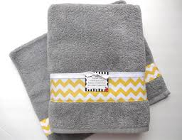 Decorative Towel Sets Bathroom by Great Yellow Bath Towel Sets You Pick Size Towel Yellow And Grey