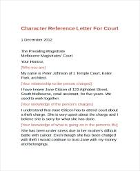 Character Reference Letter Format Character Reference Letter For A