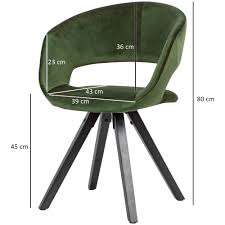 esszimmerstuhl samt grün mit schwarze beine modern küchenstuhl mit lehne stuhl mit holzfüßen polsterstuhl maximalbelastbarkeit 110 kg