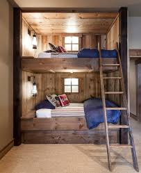 Rustic Bunk Beds Twin Over