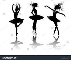 vector ballet dancers silhouette set stock vector 47214826