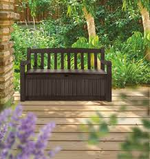 bench keter outdoor storage bench keter rockwood gallon deck box