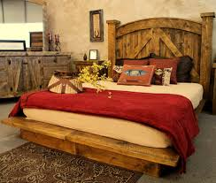The Mountain Mill Platform Bed Is Perfect For Those Seeking A Home With Rustic Yet