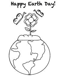 Earth Day Coloring Pages The Sun Flower