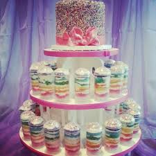 Rainbow Sprinkle Cake With Rainbow Cake Push Pops CakeCentral