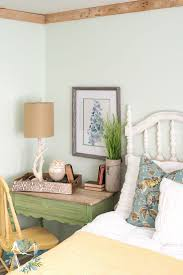 Amazing Ideas About Nature Inspired Bedroom Design With Room Decoration And Table Lamp Plus Photo Frame White Accent Wall