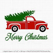 Mon Noël Elf Clipart Arbre De Noël Camion Clipart Clipart Etsy
