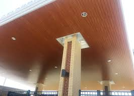 Rulon Suspended Wood Ceilings by W O Barnes Stadium Rulon International Inc
